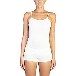 Ten Cate - 2 pack cream cotton seamless strappy vest