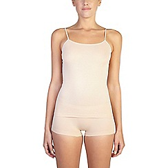 Ten Cate - 2 pack tan cotton seamless strappy vest