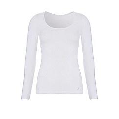 Ten Cate - White cotton control long sleeve t-shirt
