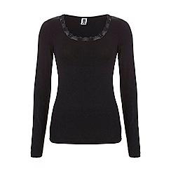 Ten Cate - Black long sleeve thermal top