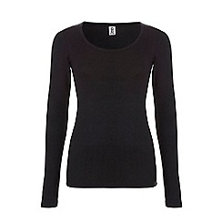 Ten Cate - Black basic long sleeve thermal top