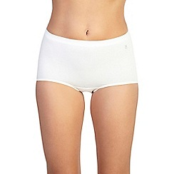 Ten Cate - Pack of three cream maxi briefs