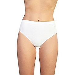 Ten Cate - Pack of three cream high leg briefs