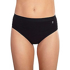 Ten Cate - Black high leg briefs 3 pack