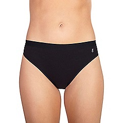 Ten Cate - Black 'Luxury Cotton' lace band midi briefs