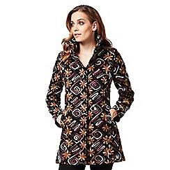 James Lakeland - Brown floral long sleeves coat