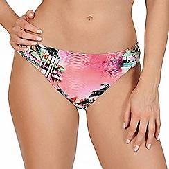 Lisca - Pink paradise print classic bikini bottoms