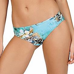 Lisca - Turquoise paradise print classic bikini bottoms
