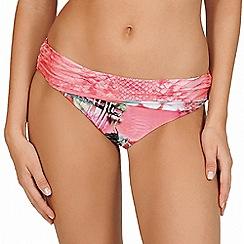 Lisca - Pink paradise print high waist bikini bottoms