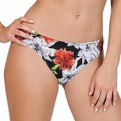 Lisca - Black print classic bikini bottoms