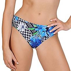 Lisca - Blue print classic bikini bottoms
