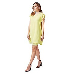 James Lakeland - Yellow A-line dress with double wave hemline