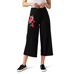 James Lakeland - Black embroidered culotte