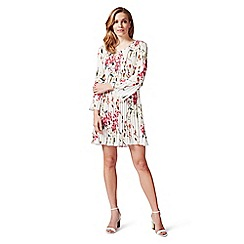 James Lakeland - White delicate floral print pleated dress