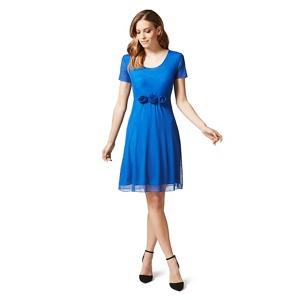 James Lakeland Royal blue rose detail A-line dress