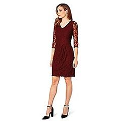 James Lakeland - Red lace v-neck knee length dress