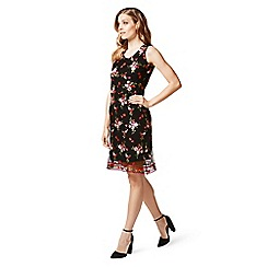 James Lakeland - Black floral embroidered dress