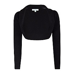Fever - Black 'Amy' long sleeves bolero