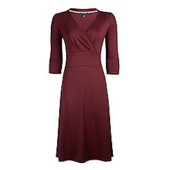 Fever - Purple jersey 'Andrea' v-neck wrap dress