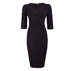 Fever - Grey jersey 'Doya' knee length wrap dress