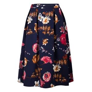 Fever Multicoloured floral print 'Elodie' midi skirt
