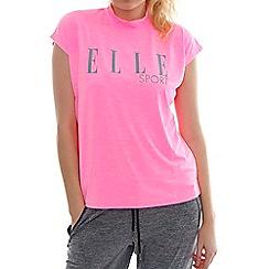 Elle Sport - Pink high neck slouch t-shirt