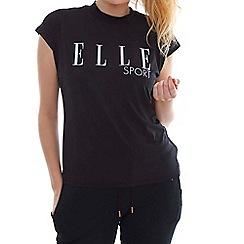Elle Sport - Black high neck slouch t-shirt