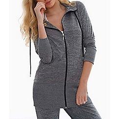 Elle Sport - Grey marl longline hoody