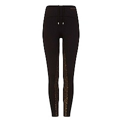Elle Sport - Black metallic print leggings