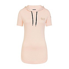Elle Sport - Pink stripe hooded layering top