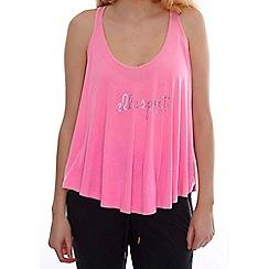 Elle Sport - Pink draped racer back vest