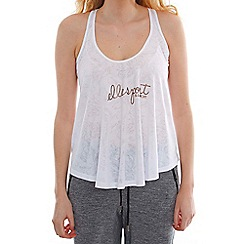 Elle Sport - White pattern draped racer back vest