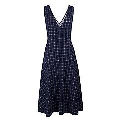 Fever - Blue jersey 'Highlands' v-neck pinafore dress