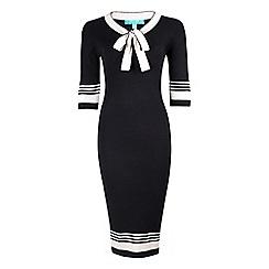 Fever - Black 'Leon' midi pencil dress