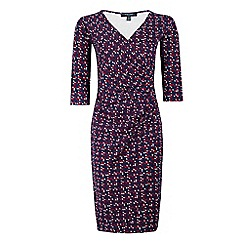 Fever - Multicoloured jersey 'Lennox' v-neck wrap dress