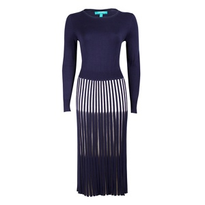 Fever Blue 'Lewes' long sleeves dress
