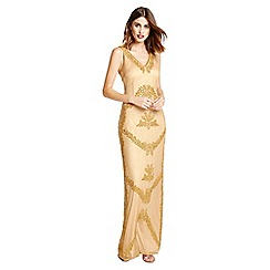 Little Black Dress - Gold 'Josephine' maxi flapper dress