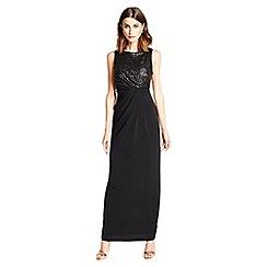 Little Black Dress - Black 'Penelope' sequin maxi dress