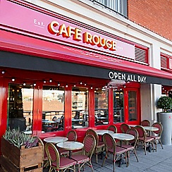 Buyagift - Three Course Meal with Sparkling Wine for Two at Cafe Rouge