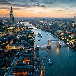 Buyagift - The View from The Shard with 3 Course Michelin Dining and Bubbles Gift Experience for 2
