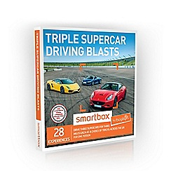 Buyagift - Triple Supercar Driving Blasts Smartbox Gift Experience