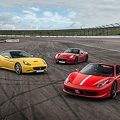 Buyagift - Triple Supercar Thrill with Free High Speed Passenger Ride - Week Round