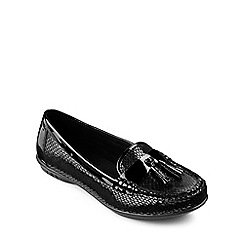 Hotter - Black leather 'Abbeyville' moccasins