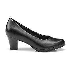 Hotter - Black leather 'Angelica' mid heel shoes