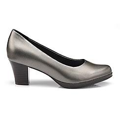 Hotter - Metallic leather 'Angelica' mid heel shoes