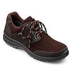 Hotter - Chocolate suede 'Appleby' Goretex lace-up trainers