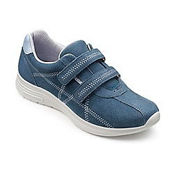 Hotter - Mid blue suede 'Astrid' casual trainers