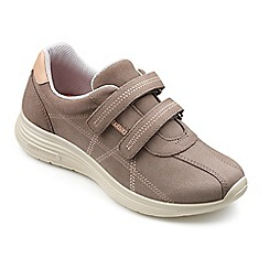 Hotter - Taupe suede 'Astrid' casual trainers