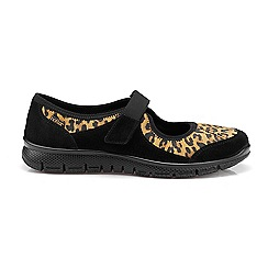 Hotter - Black suede 'Aura' casual trainers