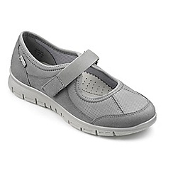Hotter - Light Grey suede 'Aura' casual trainers